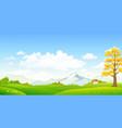 autumn horizontal scenery vector image vector image