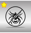 ban mites black icon button logo symbol vector image vector image