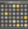 big commercial icon set trendy flat icons vector image vector image