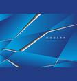 blue futuristic geometric background vector image