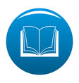 book dictionary icon blue vector image