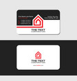 business card template with the red house vector image vector image