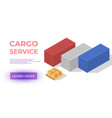 cargo service or delivery or order tracking app vector image vector image