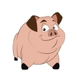 cartoon style pig icon vector image