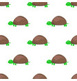 cartoon turtle seamless pattern on white vector image vector image