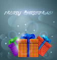 Christmas gifts Holiday card vector image vector image