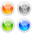 Clip buttons vector image vector image