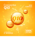 Coenzyme Q10 Supreme serum collagen oil drop vector image vector image