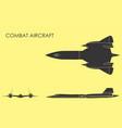 combat aircraft black fill vector image vector image