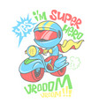 cool scooter shirt print design vector image vector image
