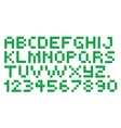 Cross Stitch Alphabet and Numbers vector image