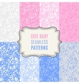 Cute baby seamless patterns Endless vector image vector image