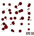 dripping blood isolated on white set of different vector image