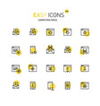 easy icons 44a computer security vector image vector image