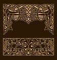 ethnic ornamental vintage frame vector image
