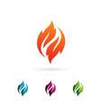 flame leaf logo design concept template vector image