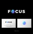 focus logo photo studio equipment emblem web ui vector image