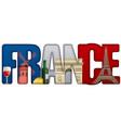 France incscription with landmarks