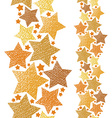 Golden stars seamless pattern vertical composition vector image vector image