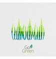 Green grass nature concept vector image