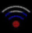 halftone russian wi-fi source icon vector image vector image