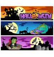halloween banners set 3 vector image vector image