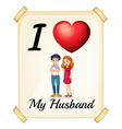 Husband vector image vector image