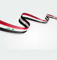 Iraqi flag background vector image vector image
