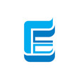letter e with wings - logo concept vector image vector image