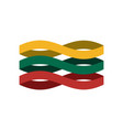 lithuania flag ribbon isolated lithuanian symbol vector image vector image