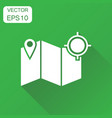 location gps icon business concept map with pin vector image vector image