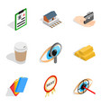 medical business icons set isometric style vector image vector image