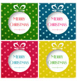 merry christmas balls on vector image vector image