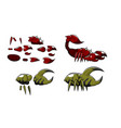 mini character scorpion and crab insect kit vector image