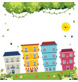 of city view vector image vector image