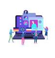 online language courses distance education vector image vector image