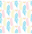 pastel seamless pattern with color branches vector image vector image