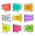 quote blank template design elements paper sheet vector image vector image