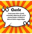 Quote bubble template vector image