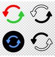 refresh arrows eps icon with contour vector image vector image