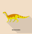 riojasaurus icon flat style vector image