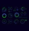 satellite hud ui circle radar futuristic digital vector image vector image