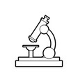 school microscope science biology icon vector image vector image