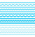 sea water waves seamless borders aqua elements vector image vector image
