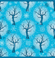 seamless christmas pattern with stylized winter vector image vector image