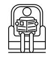 senior man read newspaper in armchair icon vector image