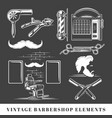 set elements barbershop vector image