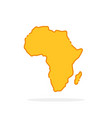 simple yellow cartoon linear africa icon