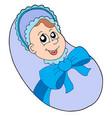 small baby boy vector image vector image