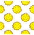 smiling sun seamless pattern vector image